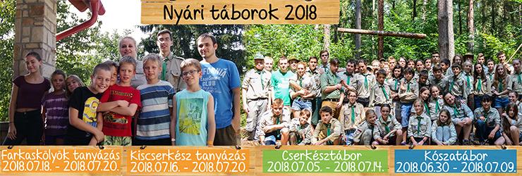 Táboraink információi - 2018.